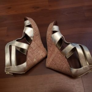 dolce vita for target Shoes - DOLCE VITA FOR TARGET Gold Sandals with cork wedge